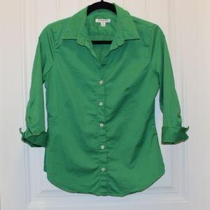 Green Banana Republic 3/4 Sleeve Button-Up Shirt